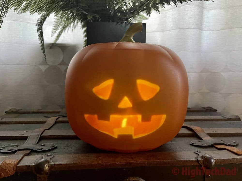 You can see the candle - Jabberin Jack animated, singing, joking pumpkin - HighTechDad review