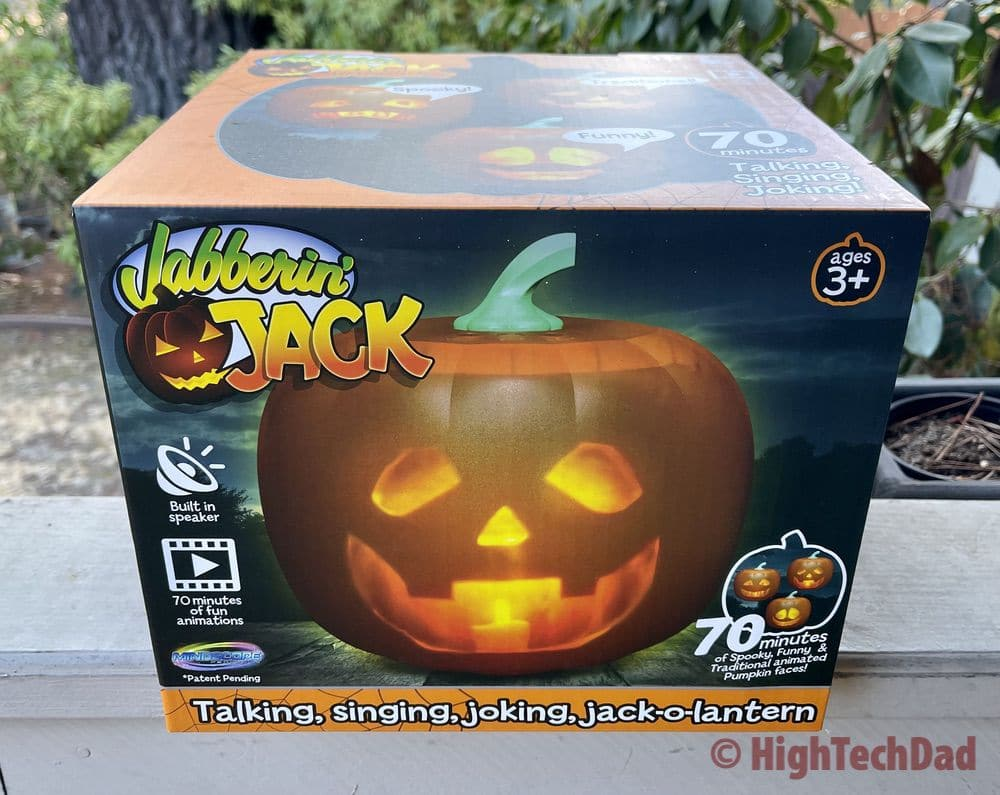 In the box - Jabberin' Jack animated, singing pumpkin - HighTechDad review
